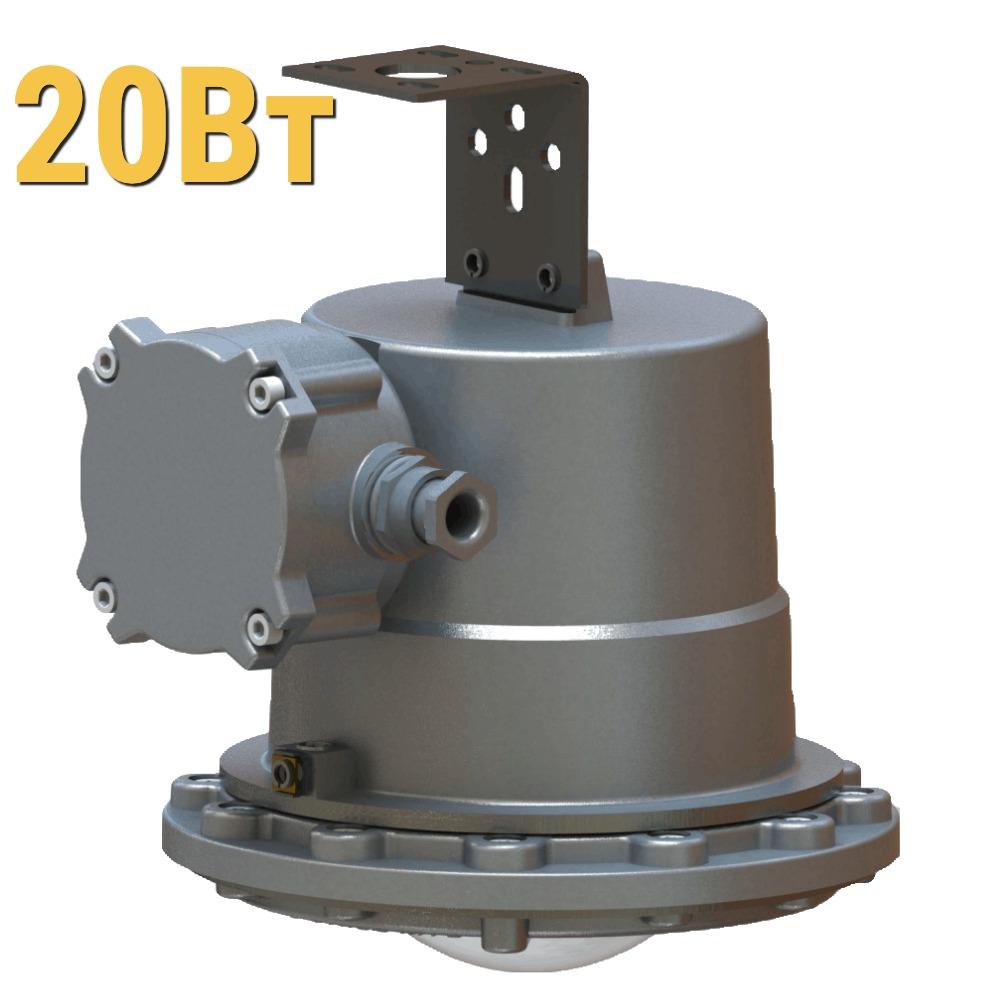 Взрывозащищенный светодиодный светильник ДСП УХЛ1 LenSvet LSS-PR-P-035-1EX-20-2000-65, 20Вт