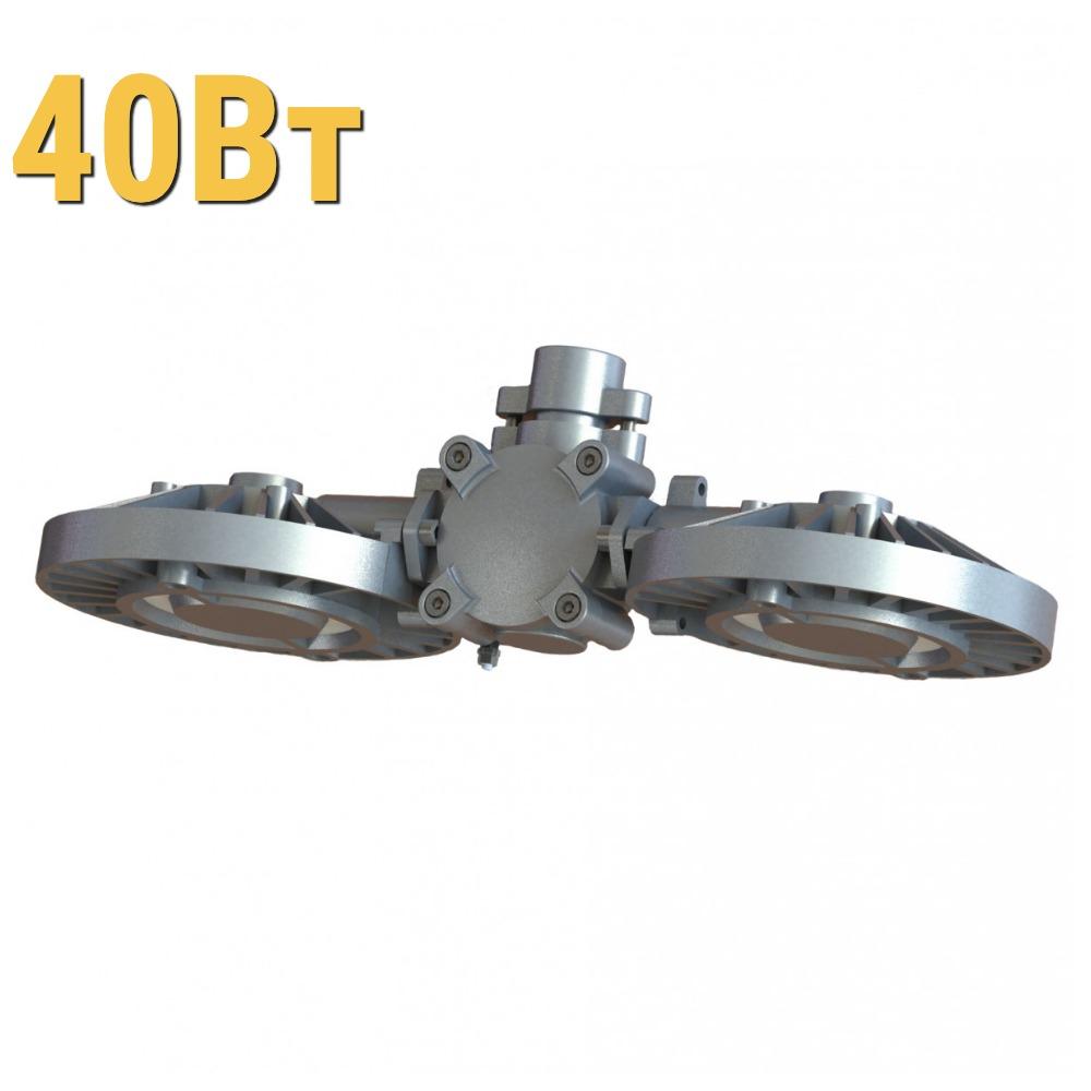 Взрывозащищенный светодиодный светильник ДСП УХЛ1 LenSvet LSS-PR-P-035-1EX-40-4000-5000-65, 40Вт
