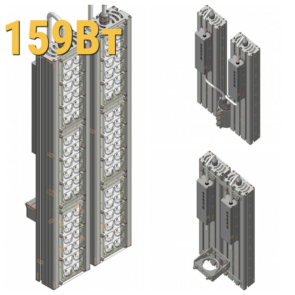 Уличный светодиодный светильник LenSvet LSS-ST-KU-018-159-23850-5000-67, 159Вт