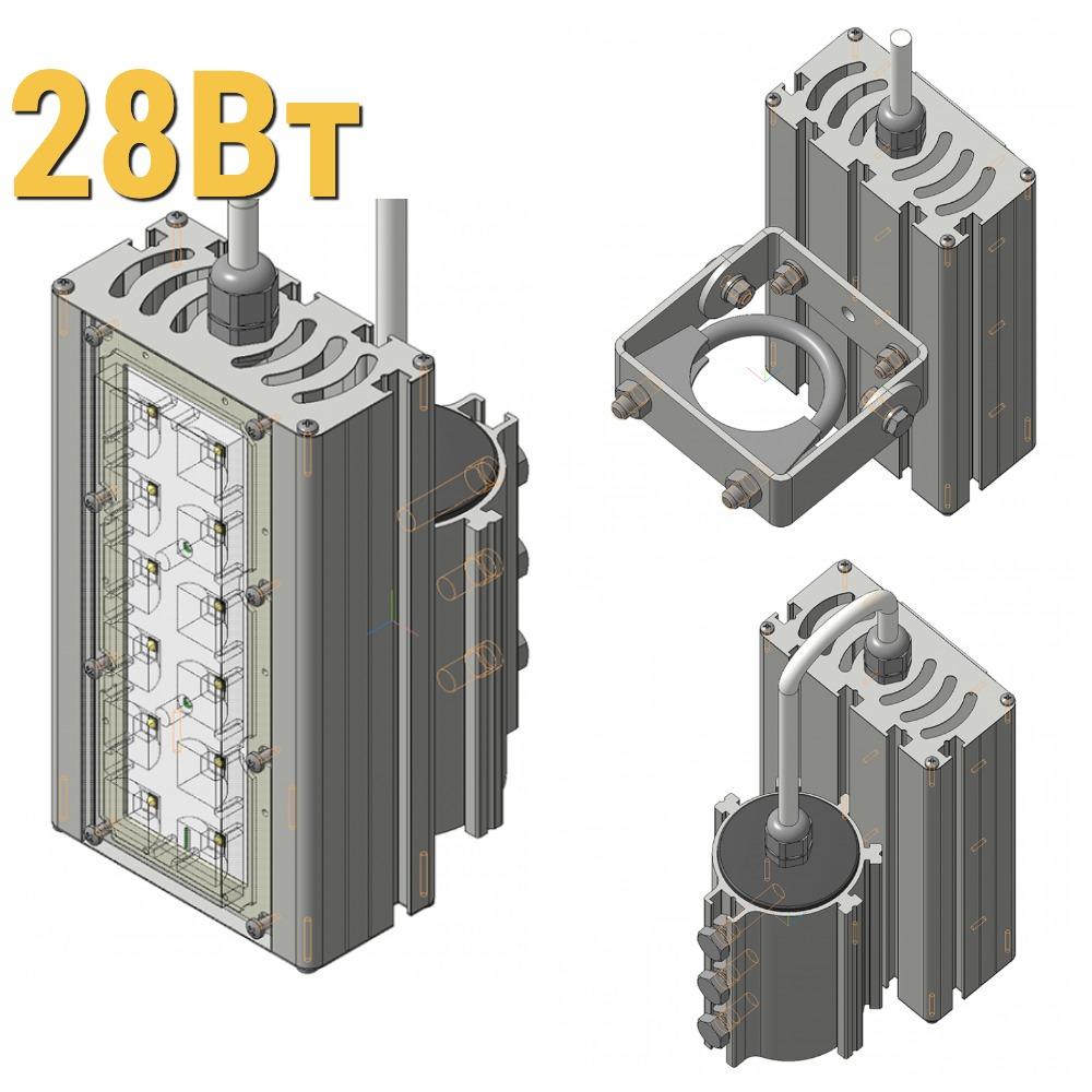 Светодиодный прожектор LenSvet LSS-ST-KU-018-28-4200-5000-67, 28Вт