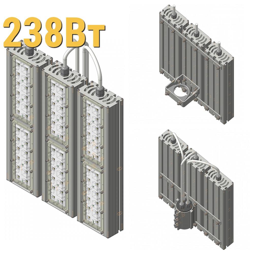 Светодиодный прожектор LenSvet LSS-ST-KU-018-238-35700-5000-67, 238Вт