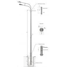 Опоры контактной сети фланцевые трубные тип ТФГ