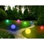 Грунтовый светящийся светильник ШАР RGB 600/250 в комплекте с металлическим штыком