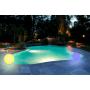 Грунтовый светящийся светильник ШАР RGB 400/145 в комплекте с пластиковым штыком