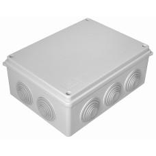 Бокс кабельный герметичный JB, 10 вводов, IP65, белый, 4 винта крышки, винтовая колодка, 3 Пин, 2,5мм2, ABS-пластик, размеры корпуса 150*110*70мм
