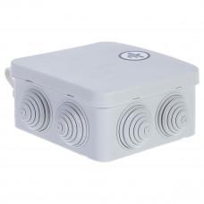 Бокс кабельный герметичный JB, 6 вводов, IP65, белый, 4 винта крышки, винтовая колодка, 3 Пин, 2,5мм2, ABS-пластик, размеры корпуса 85*85*50мм
