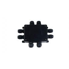Бокс кабельный герметичный XYPG9 IP67 (B706)-P112-P118 5P, 2-8 выводов, IP67, черный, 4 винта крышки, безвинтовая колодка Р02 - 5Р, 0,5-2,5мм2, ABS, размеры корпуса 85х100х28,3мм