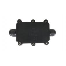 Бокс кабельный герметичный XYPG9 IP68 (B705)204 with CA10 4P, 2 вывода, IP68, черный, 6 винтов крышки, винтовая колодка, PG9, 4 Пин, 0,5-2,5мм2, полиамид, размеры корпуса 80х51,8х30,8мм