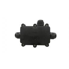 Бокс кабельный герметичный XYPG9 IP68 (B705)304 with CA10 4P, 3 вывода, IP68, черный, 6 винтов крышки, винтовая колодка, 4 Пин, PG9, 0,5-2,5мм2, полиамид, размеры корпуса 80х51,8х30,8мм