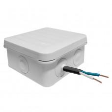 Коробка распределительная для открытой проводки, 85х85х45мм двухкомпонентная