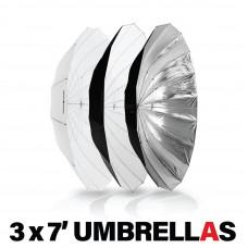 REDBACK or MOZZIE accessory - HUDSON SPIDER + Westcott 7' Umbrella 3 Pack
