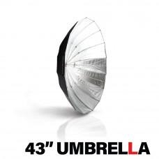 """MOZZIE accessory - HUDSON SPIDER + Westcott 43"""" Deep Silver Umbrella"""